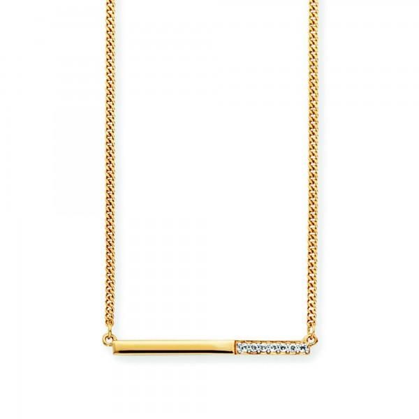 cai Collier 925/- Sterling Silber vergoldet Topas