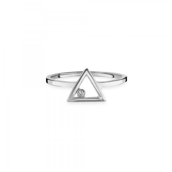 cai Ring 925/- Sterling Silber vergoldet Zirkonia