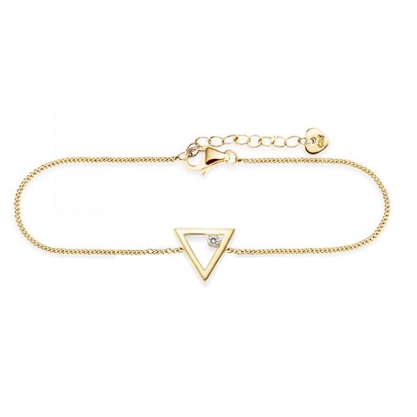 cai Armband 925/- Sterling Silber vergoldet Zirkonia