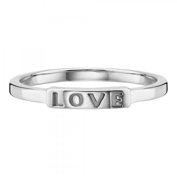 cai 925/- Sterling Silber rhodiniert Love Ring