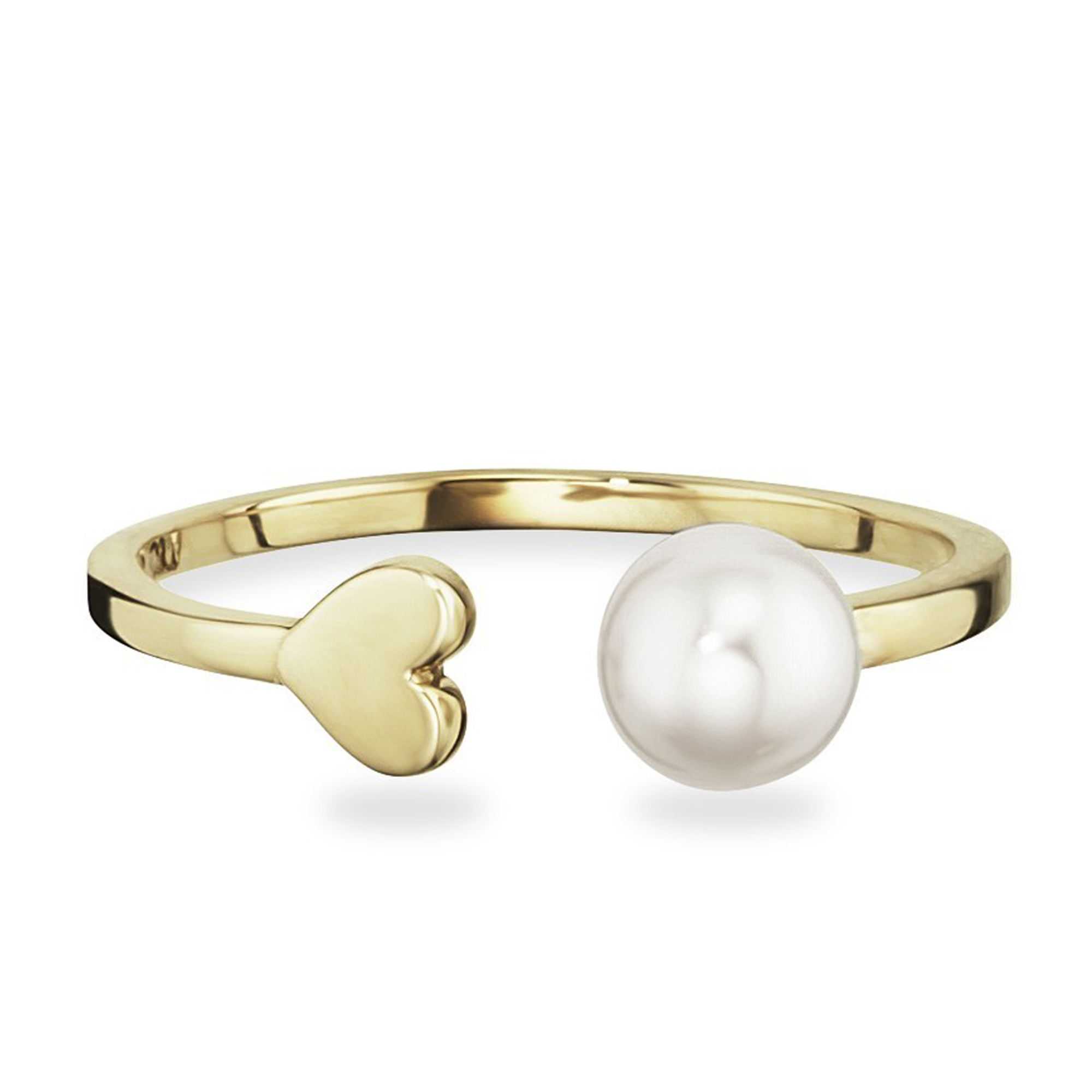 cai love Ring 925 Sterling Silber gelb vergoldet Herz geschwungen Zirkonia NEU