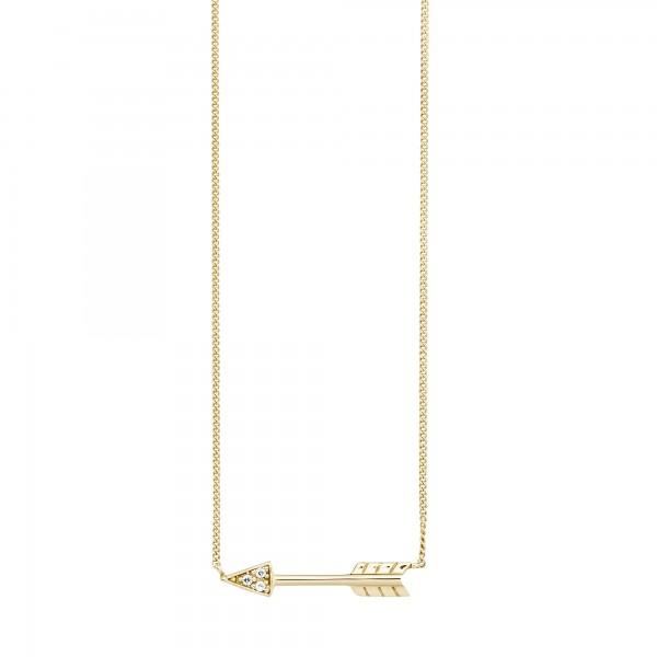 cai Collier 925/- Sterling Silber vergoldet Zirkonia Pfeil