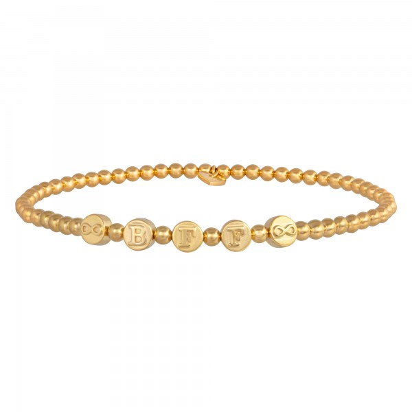 cai Stretch-Armband 925/- Sterling Silber vergoldet BFF