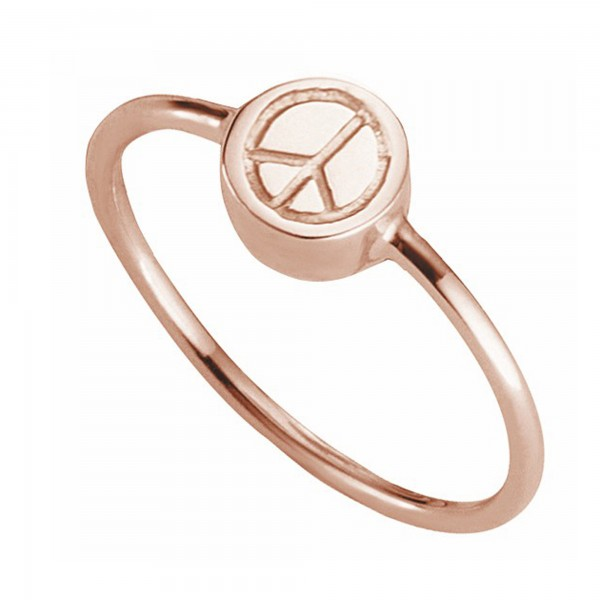 cai Ring 925/- Sterling Silber rotvergoldet Peace