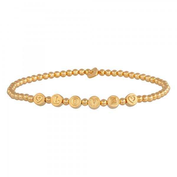 cai Stretch-Armband 925/- Sterling Silber vergoldet LOVE