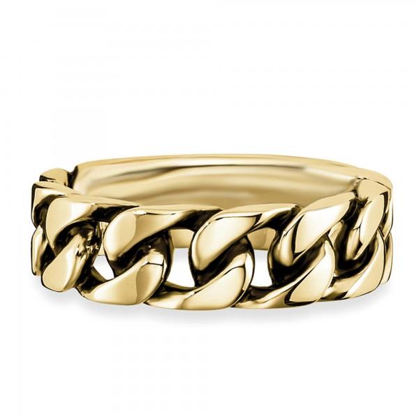 cai Ring 925/- Sterling Silber vergoldet geschwärzt