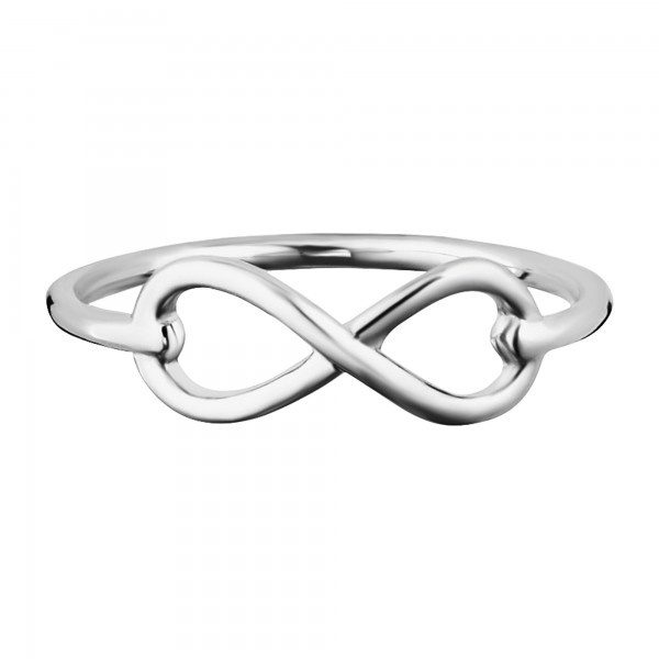 cai Ring 925/- Sterling Silber rhodiniert Infinity