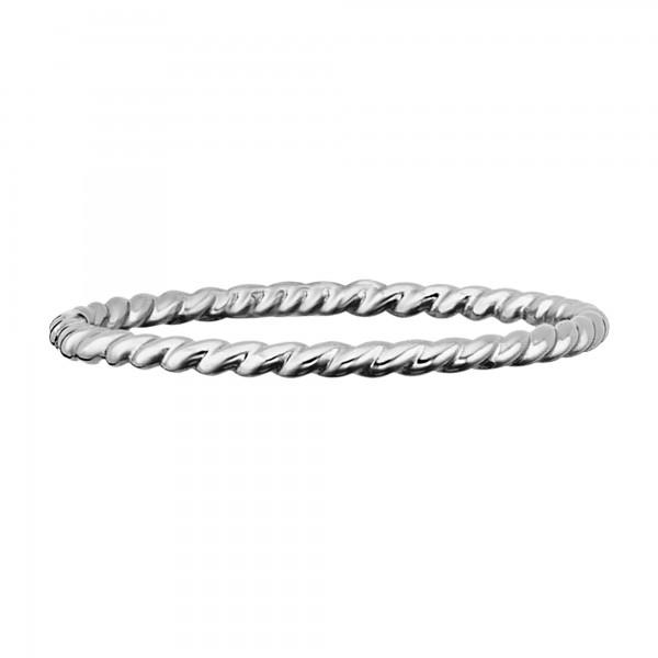 cai Ring 925/- Sterling Silber rhodiniert matt