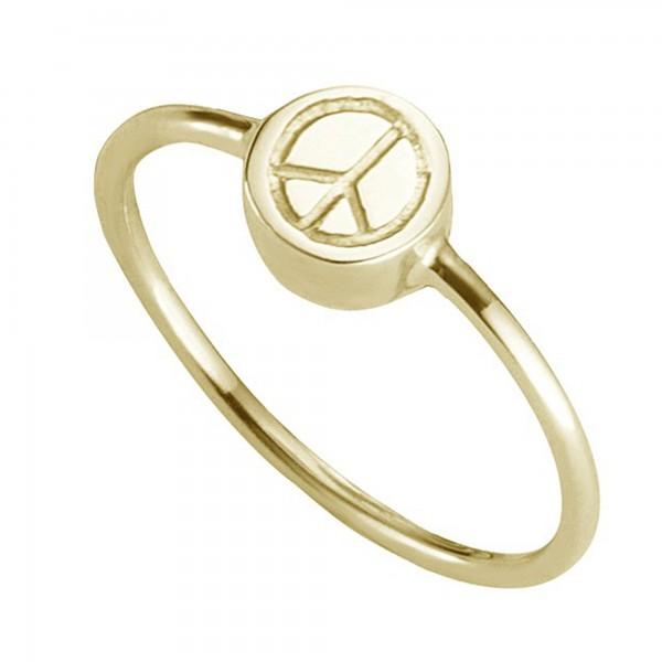 cai Ring 925/- Sterling Silber vergoldet Peace