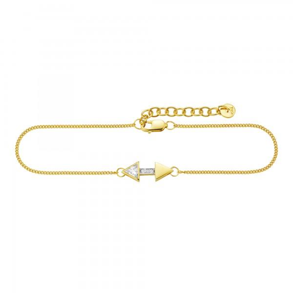 cai Armband 925/- Sterling Silber vergoldet Zirkonia Pfeile