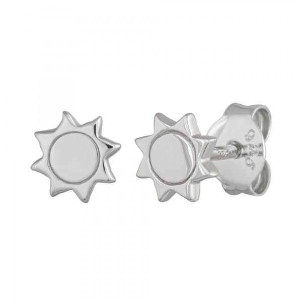 cai Ohrstecker 925/- Sterling Silber rhodiniert Sonne