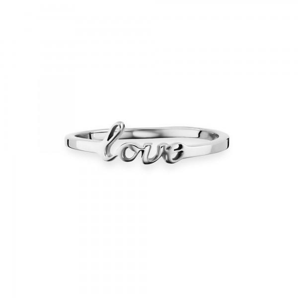 cai Ring 925/- Sterling Silber rhodiniert Love