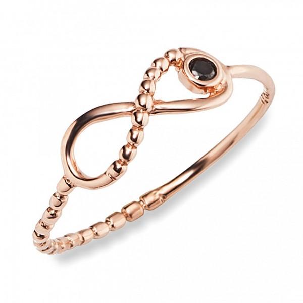 cai Ring 925/- Sterling Silber rotvergoldet Spinell