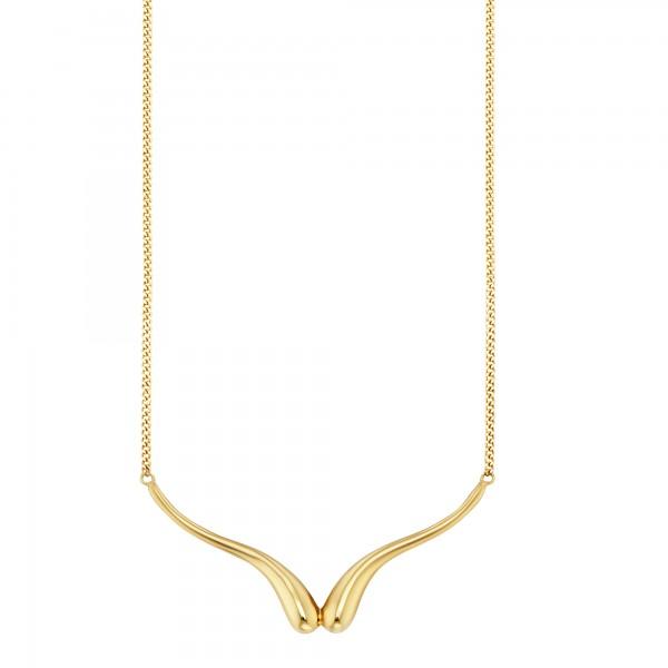 cai 925/-Sterling Silber vergoldet Tropfen Collier