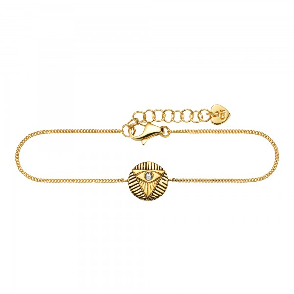 cai 925/- Sterling Silber vergoldet Zirkonia Armband