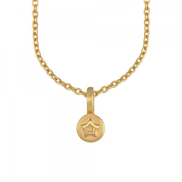 cai Anhänger mit Kette 925/- Sterling Silber vergoldet Stern