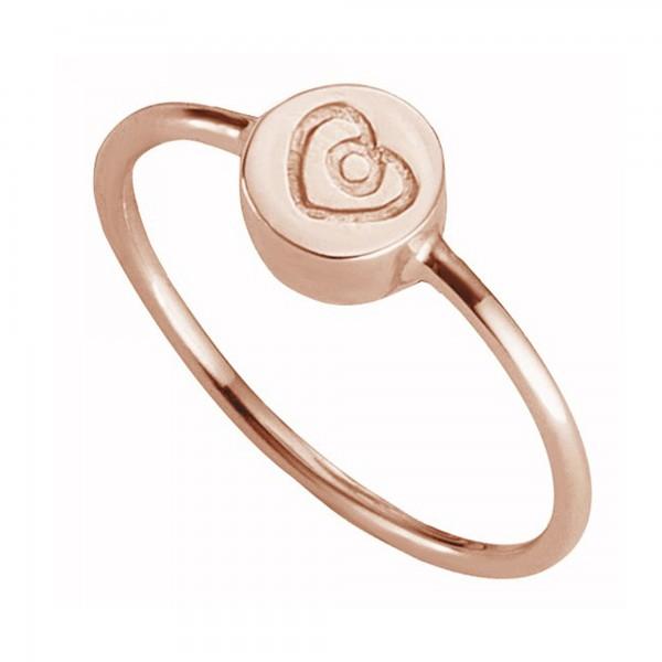cai Ring 925/- Sterling Silber rotvergoldet Herz