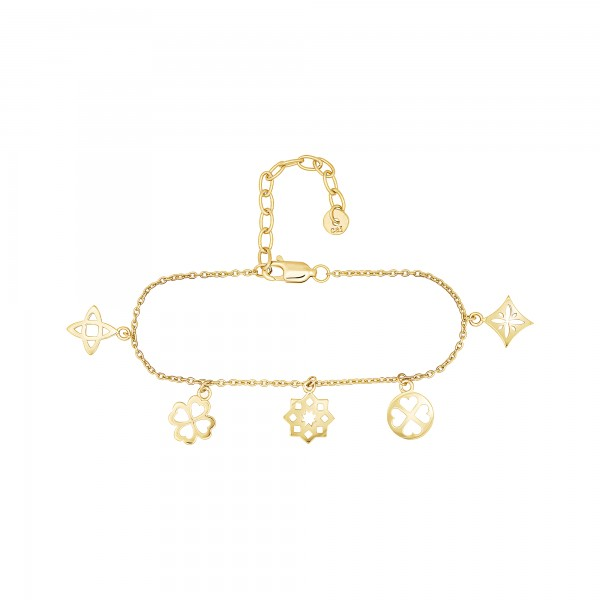 cai Armband 925 Silber vergoldet Anhänger