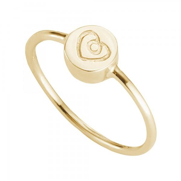 cai Ring 925/- Sterling Silber vergoldet Herz
