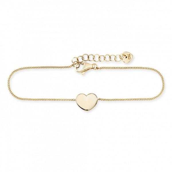 cai Armband 925/- Sterling Silber vergoldet Herz