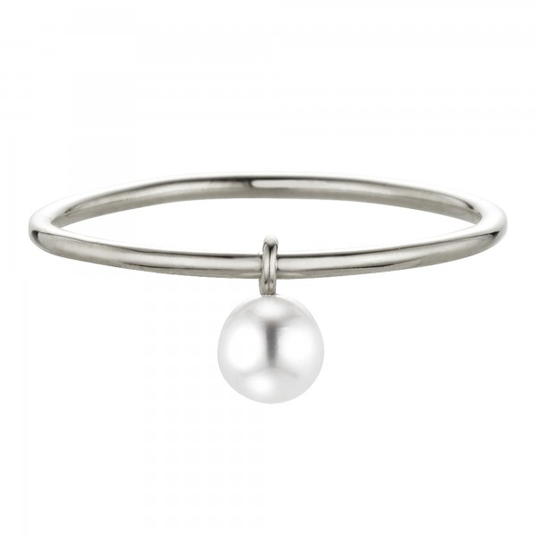 cai Ring 925/- Sterling Silber rhodiniert Süßwasserzuchtperle