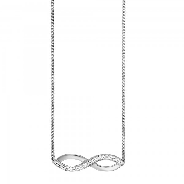 cai Collier 925/-Sterling Silber rhodiniert Topas Infinity