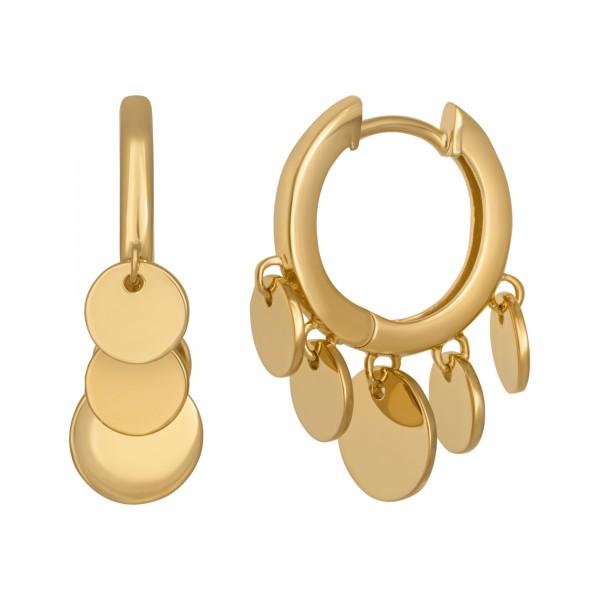 cai Creolen Boho dangling hoops 925/- Sterling Silber vergoldet
