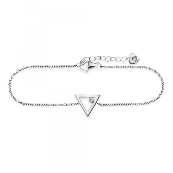 cai Armband 925/- Sterling Silber Zirkonia Dreieck