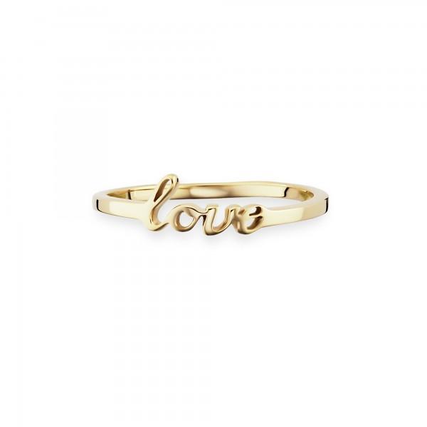 cai 925/- Sterling Silber vergoldet LOVE Ring