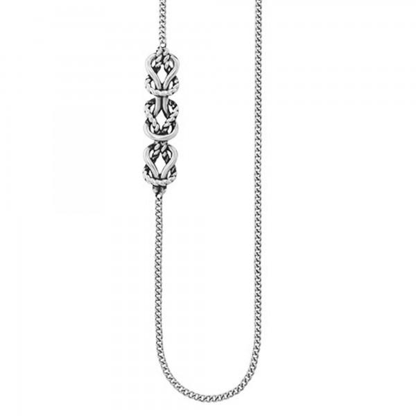 cai Collier 925/- Sterling Silber rhodiniert schwarze Farbe 55cm