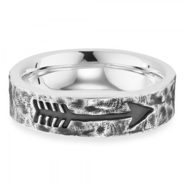 cai Ring 925/- Sterling Silber rhodiniert matt Pfeil