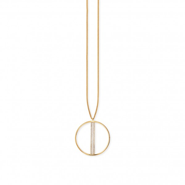 cai Anhänger mit Kette 925/- Sterling Silber vergoldet Topas
