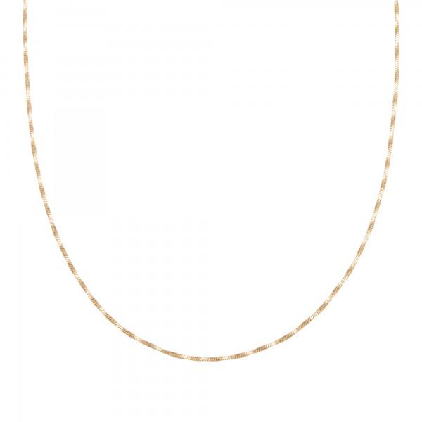 cai Collier 925/- Sterling Silber Schlangenkette vierseitig diamantiert gedreht vergoldet