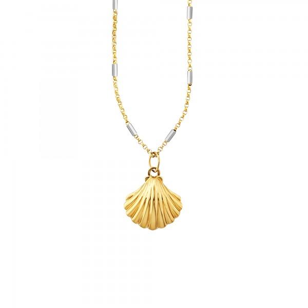 cai Anhänger mit Kette 925/- Sterling Silber vergoldet Muschel