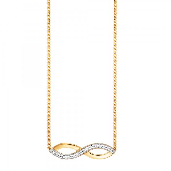 cai Collier 925/-Sterling Silber vergoldet Topas Infinity