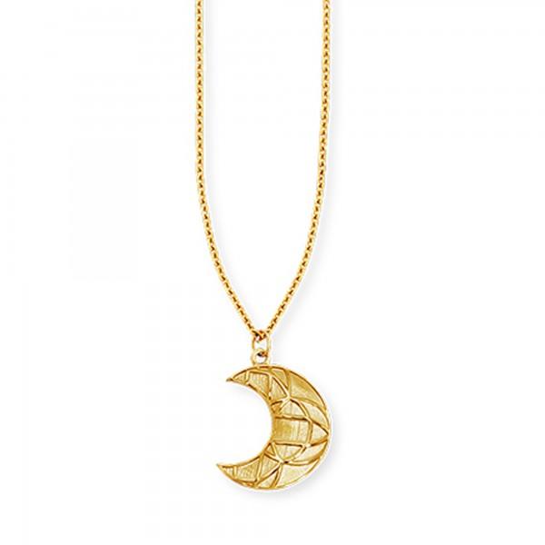 cai Anhänger mit Kette 925/- Sterling Silber vergoldet Mond