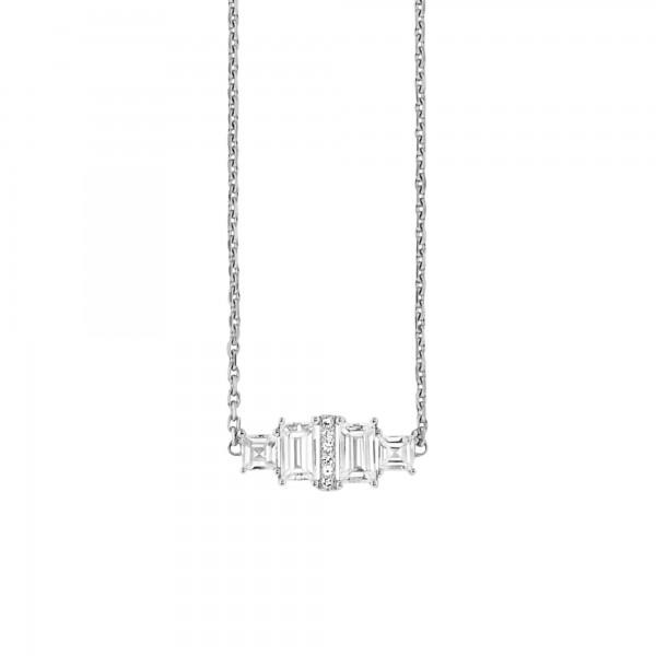 cai Collier 925/- Sterling Silber rhodiniert Weißtopas 45cm