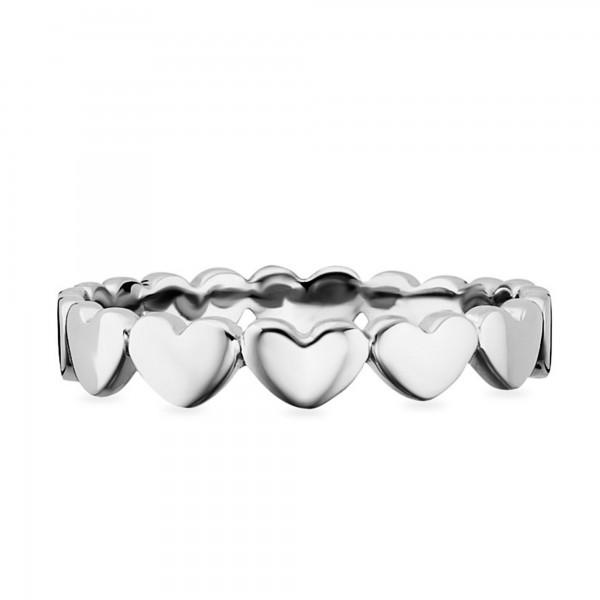 cai 925/- Sterling Silber rhodiniert Herzen Ring