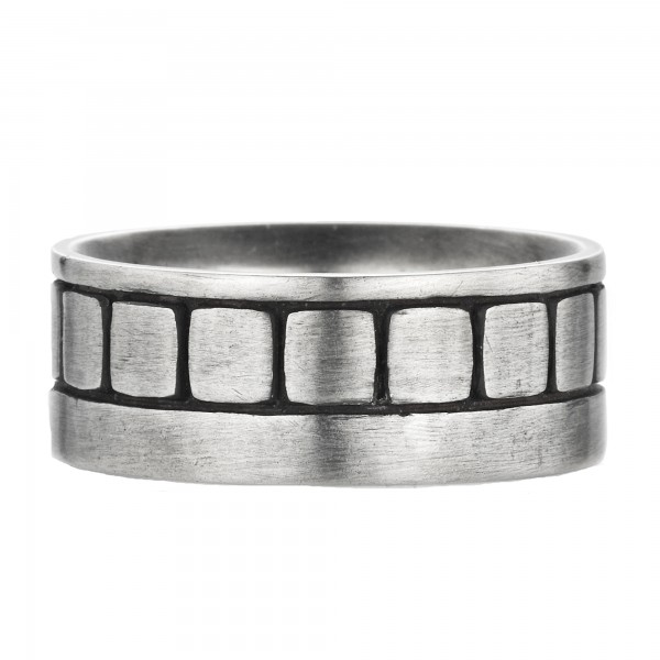 cai Ring 925/- Sterling Silber oxidiert Europa