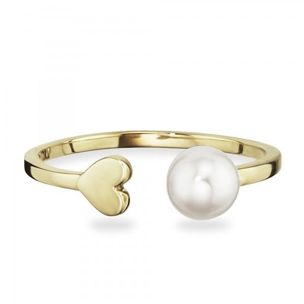 cai 925/- Sterling Silber vergoldet Perle Ring