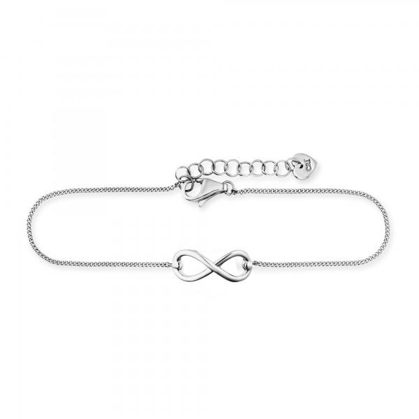 cai Armband 925/- Sterling Silber rhodiniert Infinity