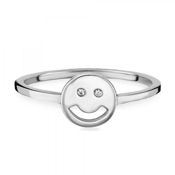 cai Ring 925/- Sterling Silber rhodiniert Emoji