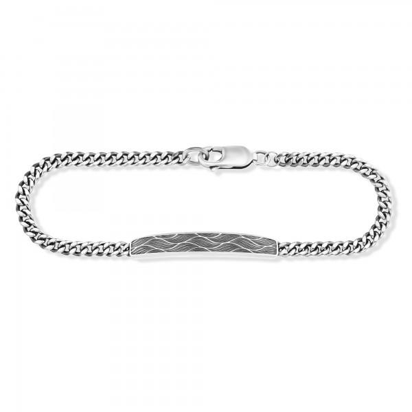 cai Armband 925/- Sterling Silber oxidiert Wellen 21cm