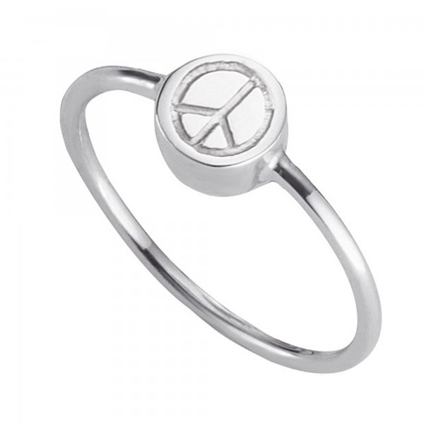 cai Ring 925/- Sterling Silber rhodiniert Peace