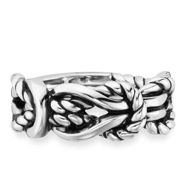 cai Ring 925/- Sterling Silber rhodiniert Knoten