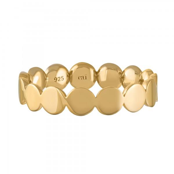 cai Ring 925/- Sterling Silber vergoldet Boho