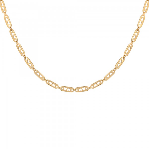 Collier 925 Silber vergoldet Kette Y-Kette Herzen