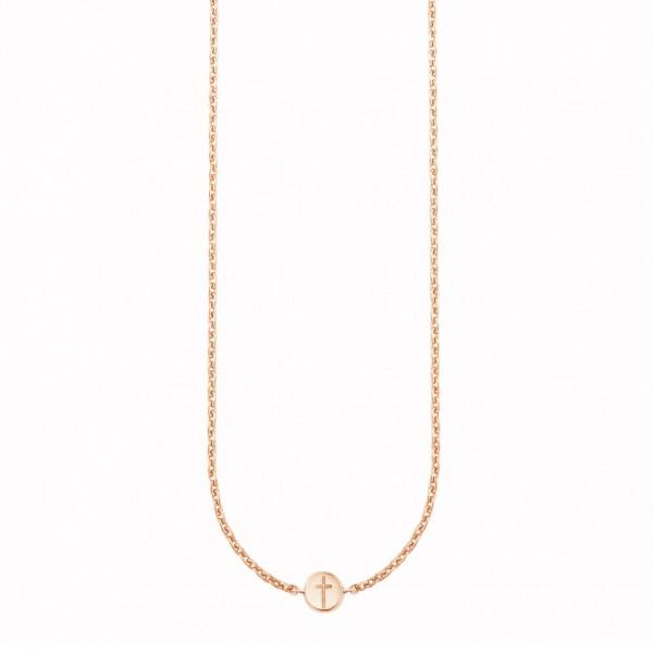 cai Collier 925/- Sterling Silber rotvergoldet Kreuz