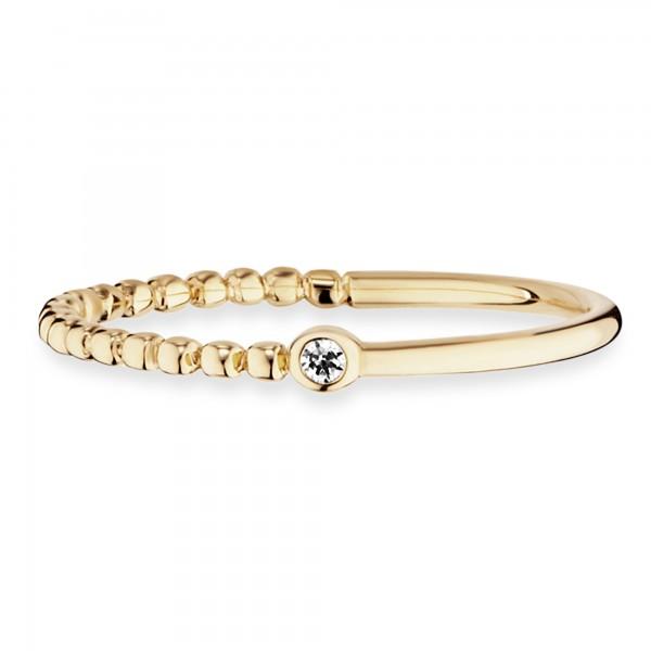 cai Ring 925 Sterling Silber vergoldet Zirkonia