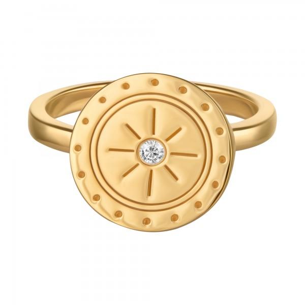 cai Ring 925/- Sterling Silber vergoldet Topas Mandala